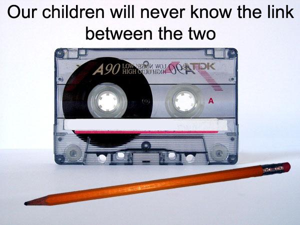 Kazeta a tužka